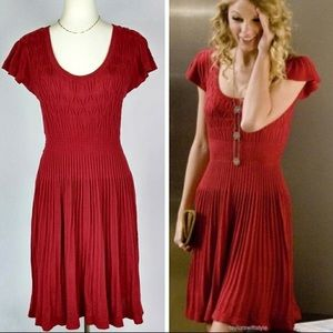 Anthropologie Sparrow Red Dress